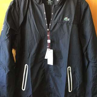 全新Lacoste Men's Tennis Sport Taffeta Jacket