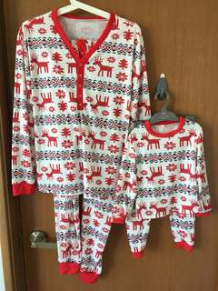 Christmas mom and baby Pyjamas