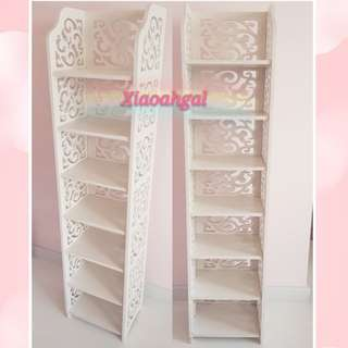 **RESERVE**🔴50%➡️ FOLLOWERS ONLY! **Those follow but unfollow, pls detour. Thks**🔴🌟NEW --LESS THAN 2 YRS!🌟AUTHENTIC French White Shabby Cottage European furniture 7 racks storage rack (CLEAN)💋No Pet No Smoker Clean Hse💋