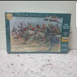 In stock Zvezda French knights XV A.D no.8036 scale 1/72