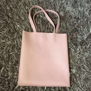 Tote bag miniso baby pink