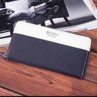 Instock men's long wallet with card and coin slot