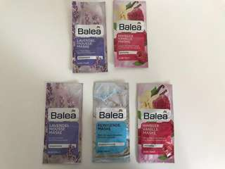 5 DM Balea Skincare Masks (German skincare product)