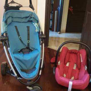 Qunny 2 in 1 Stroller with infant car seat