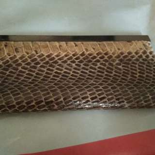 Snake leather handmade wallet