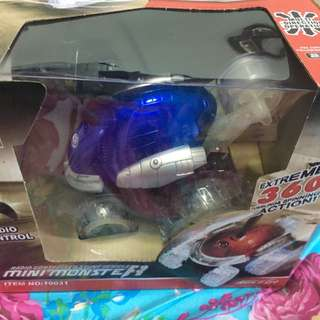 BNIB Radio controlled stunt vehicle mini monster ( blue color )