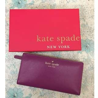 Kate Spade 銀包 (紫色)
