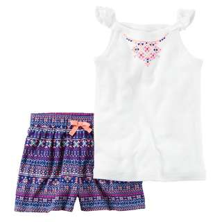 CARTER'S 2-piece Flutter Sleeve and Short Set