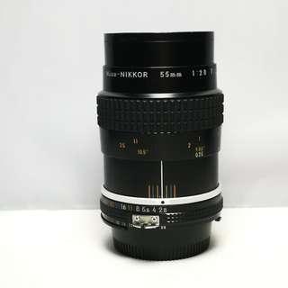 Nikon Nikkor Micro 55mm f2.8 AIS manual lens
