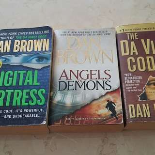 Dan Brown books x3