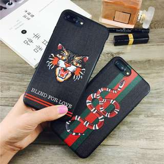 [FREE DELIVERY] Grid Relief Snake and Cat iPhone Case