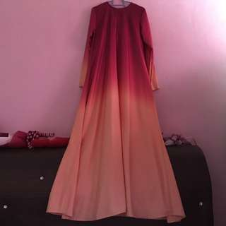 Jubah Dress Ombre