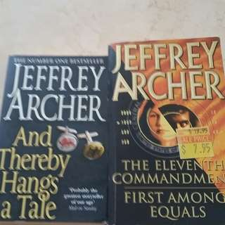 Jeffrey Archer books x2