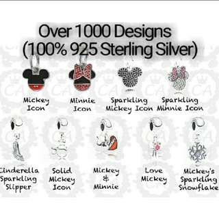 Over 1000 Designs (925 Sterling Silver Charms) To Choose From, Compatible With Pandora, T25