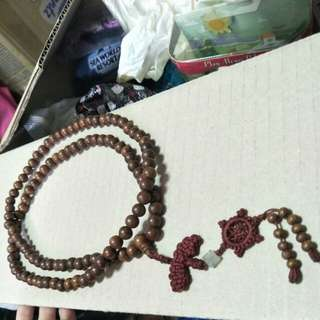 Wooden praying 108 beads