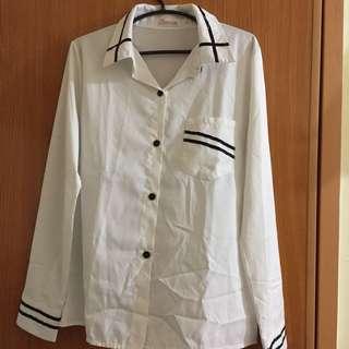 Korean Style White Long Sleeve