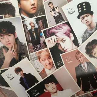 EXO AND BAEKHYUN POSTCARDS
