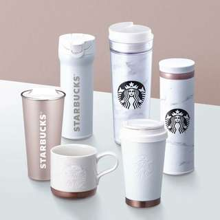 Starbucks Korea White Marble Series 2018