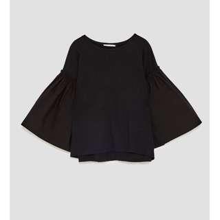 ZARA Black Full Sleeve T Shirt