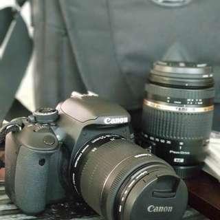 Canon EOS 600D + 2 lenses + carry bag