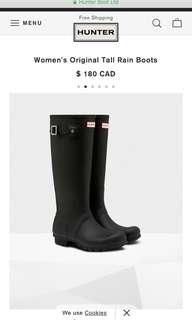 Hunter boots Original, size 5