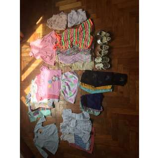 25+ pieces- baby girl clothes 12-18 Months