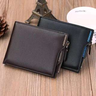 Instock men's pocket size wallet with card and coin slot