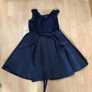 Rental for Photo Shoot: Navy Blue Dress w sequences