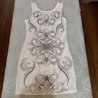 White Elegant Cocktail Dress