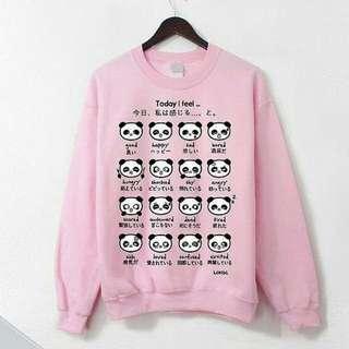 CS7024 sweater panda, Bahan babytery, LD-100 PJ-65 fit to XL, berat 0.25kg