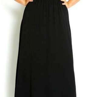 City Chic Floral Oriental Maxi dress with waist belt