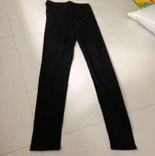 Maternity black leggings tights