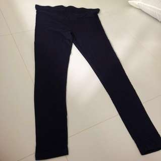 Navy maternity tights leggings