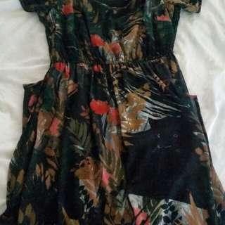 City Chic Hidden Panther' Cold Shoulder Maxi Dress Size XS