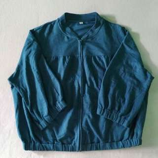 Jaket Uniqlo warna tosca