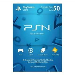 Asia PSN Card (50SGD) Digital Code