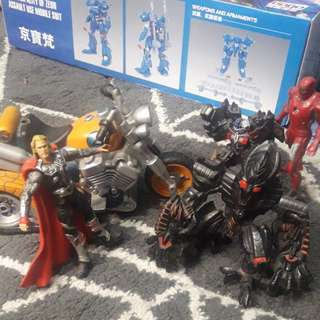 MARVEL AND TRANSFORMER FIGURINES