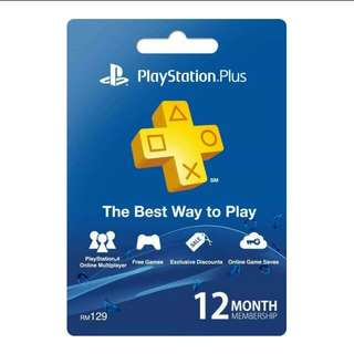 Asia PlayStation Plus 12 Months Membership