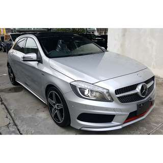 MERCEDES BENZ A250 2.0 AMG SPORT EXCLUSIVE PACKAGE PANORAMIC ROOF HARMAN KARDON DISTRONIC (A) OFFER UNREG 2013