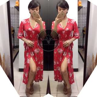 (PLUS SIZE) Hera Long Back Maxi Dress