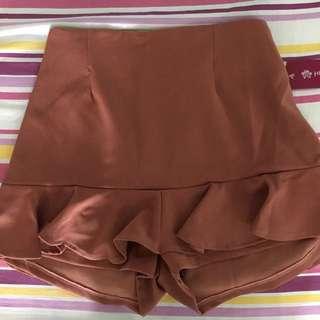 Hip Culture brown Skirt-shorts bottom