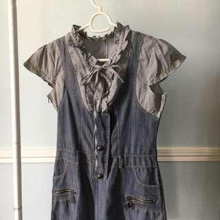 Authentic Louis vuitton Semi denim dress
