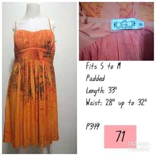 Trixxi Orange Printed Dress