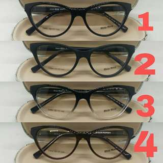 PAKET FRAME FREE LENSA - frame kacamata wanita miu miu