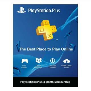 Asia PlayStation Plus 3 Months Membership