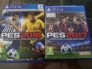 Jual Pes 2016, 2017 ps4 games seken.