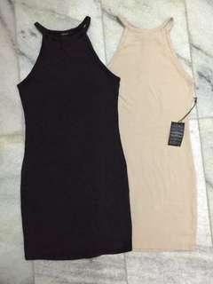 Forever21 dress dark grey/nude
