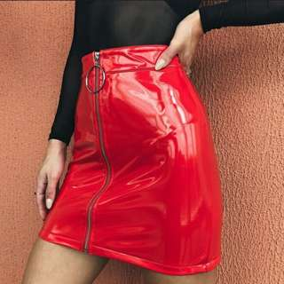 [PREORDER] Patent Leather Skirt