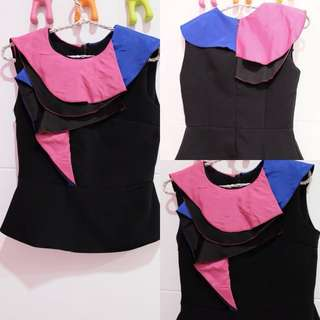 Tops black layer colourfull