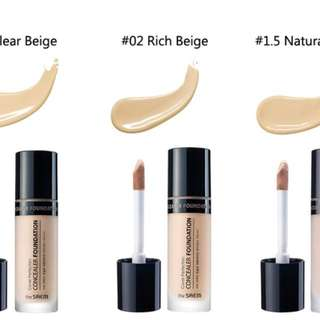 the SAEM Cover Perfection Concealer Foundation in 02 Rich Beige